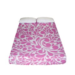 Pink Pattern Fitted Sheet (full/ Double Size) by Valentinaart