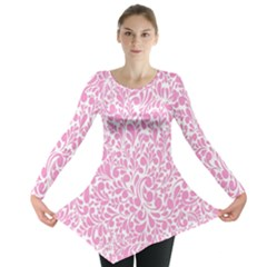 Pink Pattern Long Sleeve Tunic  by Valentinaart