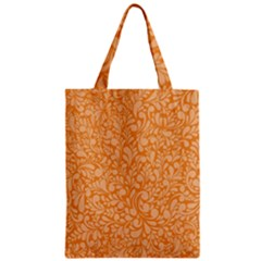 Orange Pattern Zipper Classic Tote Bag by Valentinaart