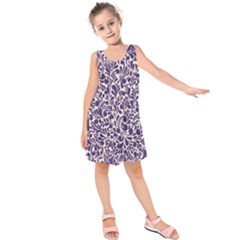 Purple Pattern Kids  Sleeveless Dress by Valentinaart