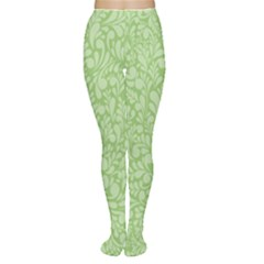 Green Pattern Women s Tights by Valentinaart