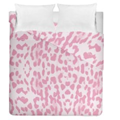Leopard Pink Pattern Duvet Cover Double Side (queen Size)