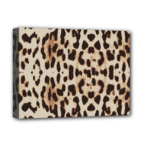Leopard Pattern Deluxe Canvas 16  X 12   by Valentinaart