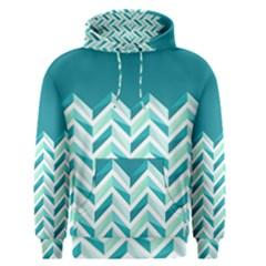 Zigzag Pattern In Blue Tones Men s Pullover Hoodie by TastefulDesigns