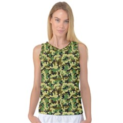 Camo Woodland Women s Basketball Tank Top