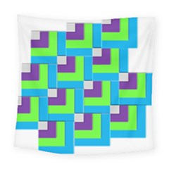 Geometric 3d Mosaic Bold Vibrant Square Tapestry (large) by Amaryn4rt