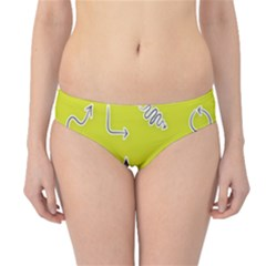 Arrow Line Sign Circle Flat Curve Hipster Bikini Bottoms by Amaryn4rt