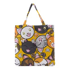 Cats Pattern Grocery Tote Bag by Valentinaart
