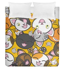 Cats Pattern Duvet Cover Double Side (queen Size) by Valentinaart
