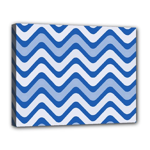 Waves Wavy Lines Pattern Design Canvas 14  X 11