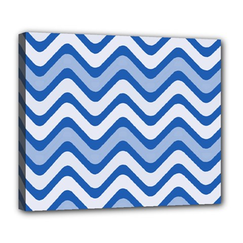 Waves Wavy Lines Pattern Design Deluxe Canvas 24  X 20
