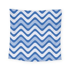 Waves Wavy Lines Pattern Design Square Tapestry (small)