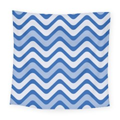 Waves Wavy Lines Pattern Design Square Tapestry (large)