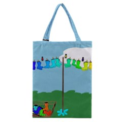 Welly Boot Rainbow Clothesline Classic Tote Bag by Amaryn4rt