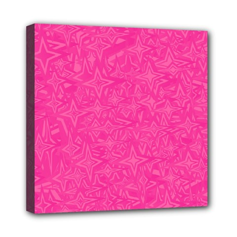 Geometric Pattern Wallpaper Pink Mini Canvas 8  X 8  by Amaryn4rt