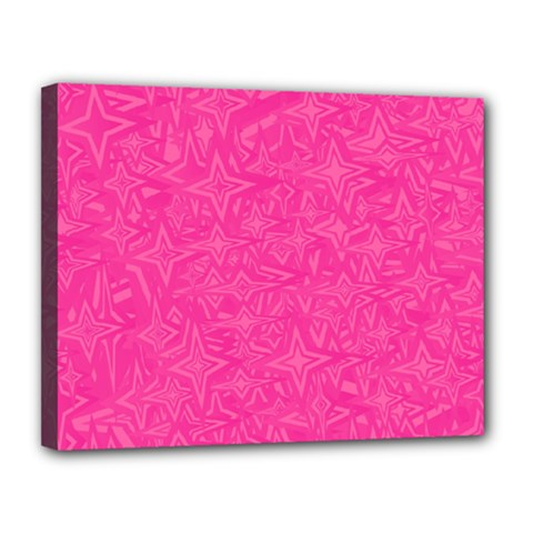 Geometric Pattern Wallpaper Pink Canvas 14  X 11  by Amaryn4rt