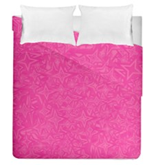 Geometric Pattern Wallpaper Pink Duvet Cover Double Side (queen Size) by Amaryn4rt
