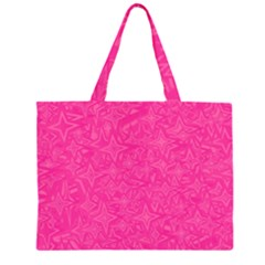 Geometric Pattern Wallpaper Pink Zipper Large Tote Bag by Amaryn4rt