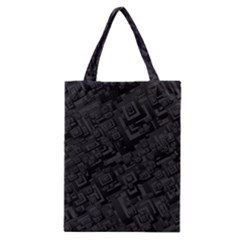 Black Rectangle Wallpaper Grey Classic Tote Bag by Amaryn4rt