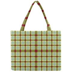 Geometric Tartan Pattern Square Mini Tote Bag by Amaryn4rt