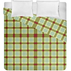 Geometric Tartan Pattern Square Duvet Cover Double Side (king Size) by Amaryn4rt