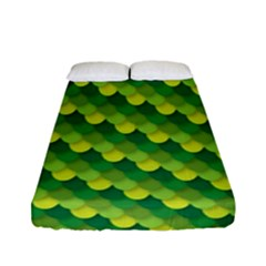 Dragon Scale Scales Pattern Fitted Sheet (full/ Double Size) by Amaryn4rt