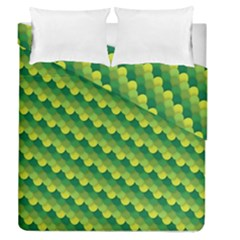 Dragon Scale Scales Pattern Duvet Cover Double Side (queen Size) by Amaryn4rt