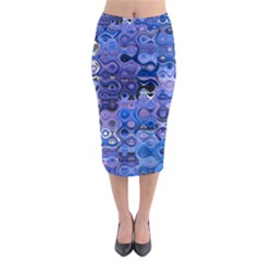 Background Texture Pattern Colorful Midi Pencil Skirt by Amaryn4rt