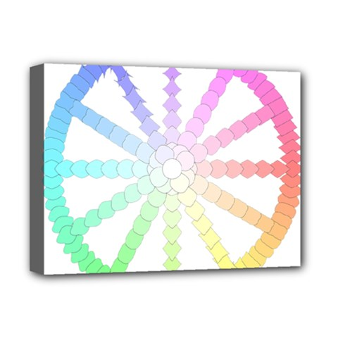 Polygon Evolution Wheel Geometry Deluxe Canvas 16  X 12   by Amaryn4rt