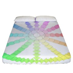 Polygon Evolution Wheel Geometry Fitted Sheet (queen Size) by Amaryn4rt