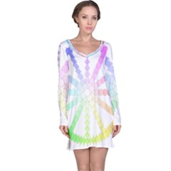 Polygon Evolution Wheel Geometry Long Sleeve Nightdress by Amaryn4rt