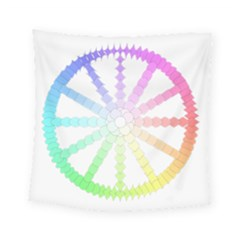 Polygon Evolution Wheel Geometry Square Tapestry (small)