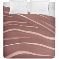 Lines Swinging Texture Background Duvet Cover Double Side (king Size) by Amaryn4rt