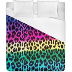 Cheetah Neon Rainbow Animal Duvet Cover (california King Size) by Alisyart