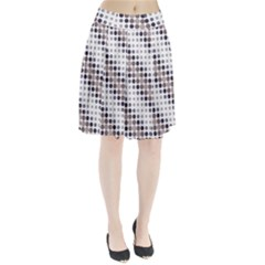 Circle Blue Grey Line Waves Black Pleated Skirt by Alisyart