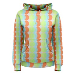 Circles Orange Blue Green Yellow Women s Pullover Hoodie