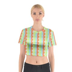 Circles Orange Blue Green Yellow Cotton Crop Top