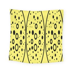 Easter Egg Shapes Large Wave Black Yellow Circle Dalmation Square Tapestry (small) by Alisyart
