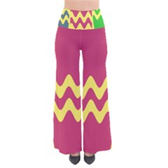 Easter Egg Shapes Large Wave Green Pink Blue Yellow Pants