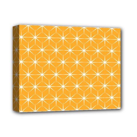 Yellow Stars Light White Orange Deluxe Canvas 14  X 11  by Alisyart