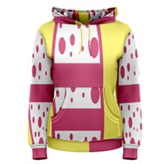 Easter Egg Shapes Large Wave Pink Yellow Circle Dalmation Women s Pullover Hoodie
