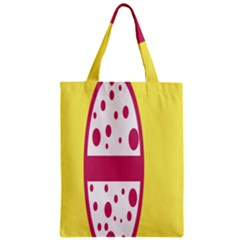 Easter Egg Shapes Large Wave Pink Yellow Circle Dalmation Zipper Classic Tote Bag by Alisyart