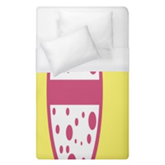 Easter Egg Shapes Large Wave Pink Yellow Circle Dalmation Duvet Cover (single Size) by Alisyart