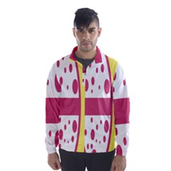 Easter Egg Shapes Large Wave Pink Yellow Circle Dalmation Wind Breaker (men)