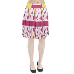 Easter Egg Shapes Large Wave Pink Yellow Circle Dalmation Pleated Skirt by Alisyart