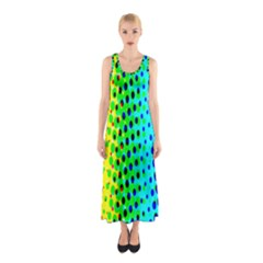 Comic Strip Dots Circle Rainbow Sleeveless Maxi Dress by Alisyart
