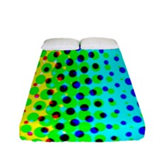 Comic Strip Dots Circle Rainbow Fitted Sheet (full/ Double Size) by Alisyart