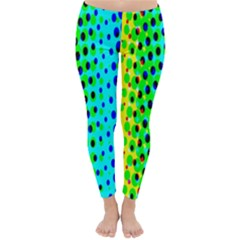 Comic Strip Dots Circle Rainbow Classic Winter Leggings