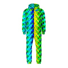 Comic Strip Dots Circle Rainbow Hooded Jumpsuit (kids)