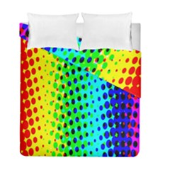 Comic Strip Dots Circle Rainbow Duvet Cover Double Side (full/ Double Size)